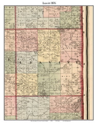 Leavitt, Michigan 1876 Old Town Map Custom Print - Oceana Co.