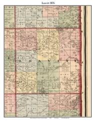 Leavitt, Michigan 1876 Old Town Map Custom Print - Oceana Co.