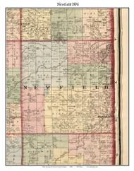 Newfield, Michigan 1876 Old Town Map Custom Print - Oceana Co.
