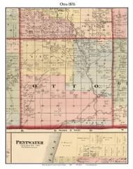 Otto, Michigan 1876 Old Town Map Custom Print - Oceana Co.