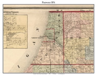 Pentwater, Michigan 1876 Old Town Map Custom Print - Oceana Co.