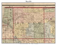 Weare, Michigan 1876 Old Town Map Custom Print - Oceana Co.