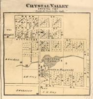 Crystal Valley Village, Crystal, Michigan 1876 Old Town Map Custom Print - Oceana Co.