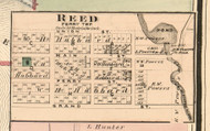 Reed Village, Ferry, Michigan 1876 Old Town Map Custom Print - Oceana Co.
