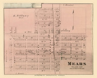 Mears Village, Golden, Michigan 1876 Old Town Map Custom Print - Oceana Co.