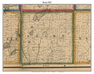 Brady, Michigan 1861 Old Town Map Custom Print - Kalamazoo Co.