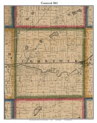 Comstock, Michigan 1861 Old Town Map Custom Print - Kalamazoo Co.