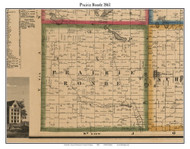 Prairie Ronde, Michigan 1861 Old Town Map Custom Print - Kalamazoo Co.