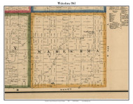 Wakeshma, Michigan 1861 Old Town Map Custom Print - Kalamazoo Co.