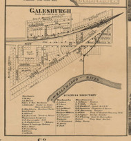Galesburgh, Michigan 1861 Old Town Map Custom Print - Kalamazoo Co.