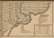 Augusta, Michigan 1861 Old Town Map Custom Print - Kalamazoo Co.