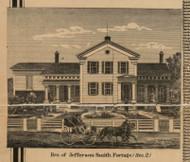 Residence of Smith, Michigan 1861 Old Town Map Custom Print - Kalamazoo Co.