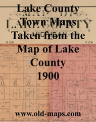 Map Cartouche, Lake Co. Michigan 1900 Old Town Map Custom Print - Lake Co.