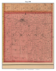 Chase, Michigan 1900 Old Town Map Custom Print - Lake Co.