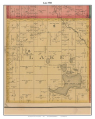 Lake, Michigan 1900 Old Town Map Custom Print - Lake Co.