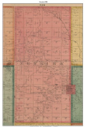 Newkirk, Michigan 1900 Old Town Map Custom Print - Lake Co.