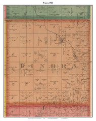 Pinora, Michigan 1900 Old Town Map Custom Print - Lake Co.