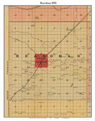 Boardman, Michigan 1898 Old Town Map Custom Print - Kalkaska Co.