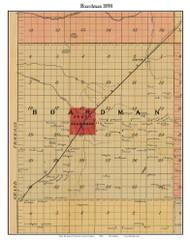 Boardman, Michigan 1898 Old Town Map Custom Print - Kalkaska Co.