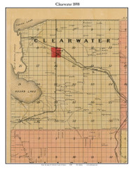 Blearwater, Michigan 1898 Old Town Map Custom Print - Kalkaska Co.