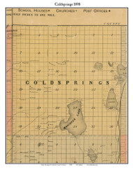 Coldsprings, Michigan 1898 Old Town Map Custom Print - Kalkaska Co.