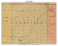 Garfield, Michigan 1898 Old Town Map Custom Print - Kalkaska Co.