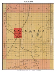 Kalkaska, Michigan 1898 Old Town Map Custom Print - Kalkaska Co.