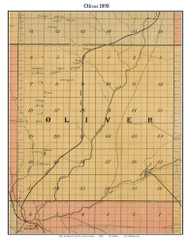 Oliver, Michigan 1898 Old Town Map Custom Print - Kalkaska Co.