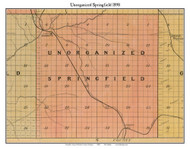 Unorganized Springfield, Michigan 1898 Old Town Map Custom Print - Kalkaska Co.