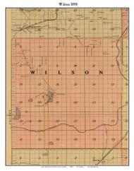 Wilson, Michigan 1898 Old Town Map Custom Print - Kalkaska Co.