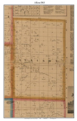 Allison, Michigan 1863 Old Town Map Custom Print - Lapeer Co.