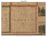 Altmont, Michigan 1863 Old Town Map Custom Print - Lapeer Co.