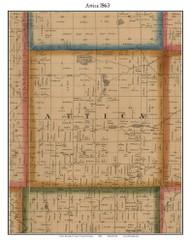 Attica, Michigan 1863 Old Town Map Custom Print - Lapeer Co.