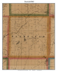 Deerfield, Michigan 1863 Old Town Map Custom Print - Lapeer Co.