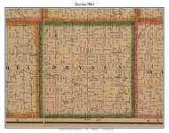 Dryden, Michigan 1863 Old Town Map Custom Print - Lapeer Co.