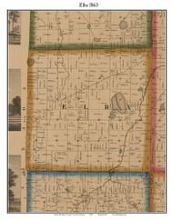 Elba, Michigan 1863 Old Town Map Custom Print - Lapeer Co.