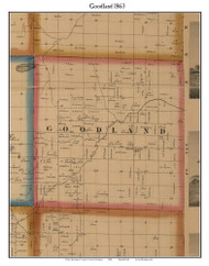 Goodland, Michigan 1863 Old Town Map Custom Print - Lapeer Co.