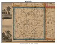 Hadley, Michigan 1863 Old Town Map Custom Print - Lapeer Co.