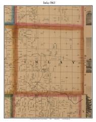 Imlay, Michigan 1863 Old Town Map Custom Print - Lapeer Co.