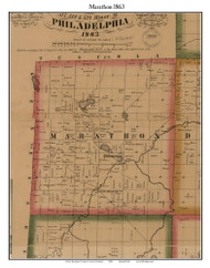 Marathon, Michigan 1863 Old Town Map Custom Print - Lapeer Co.