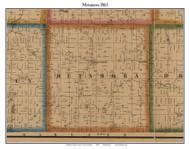 Metamora, Michigan 1863 Old Town Map Custom Print - Lapeer Co.