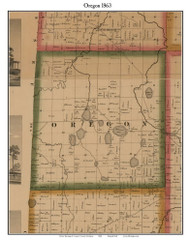 Oregon, Michigan 1863 Old Town Map Custom Print - Lapeer Co.