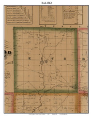 Rich, Michigan 1863 Old Town Map Custom Print - Lapeer Co.
