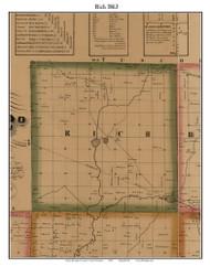 Rich, Michigan 1863 Old Town Map Custom Print - Lapeer Co.