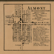 Altmont Village, Michigan 1863 Old Town Map Custom Print - Lapeer Co.