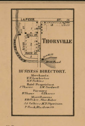 Thornville, Michigan 1863 Old Town Map Custom Print - Lapeer Co.