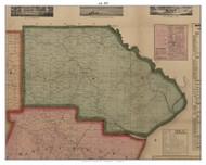 Ash, Michigan 1859 Old Town Map Custom Print - Monroe Co.
