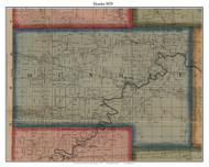 Dundee, Michigan 1859 Old Town Map Custom Print - Monroe Co.
