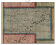 Dundee, Michigan 1859 Old Town Map Custom Print - Monroe Co.
