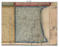 Erie, Michigan 1859 Old Town Map Custom Print - Monroe Co.